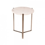Nola Nikkel And Marble Side Table